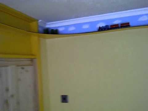 thomas  percy hornby train set mounted  wall youtube