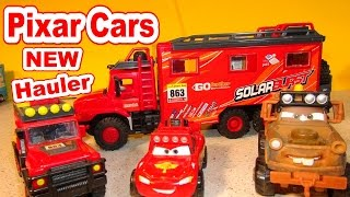 Pixar Cars Unboxing New Off-Road Hauler for Lightning McQueen