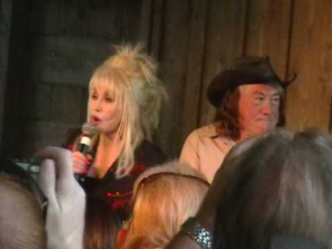 Dolly Parton and her Uncle Bill Owens at Dollywood Answering Questions - September 2009