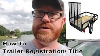 Ohio Trailer Registration / Title ?   Transfer to PA - How To