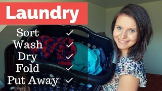 Flylady Baby Steps - Day 20 - Laundry, Laundry, Laundry
