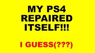 PS4 Overheating - Now it Works! - Did My PS4 Fix Itself???