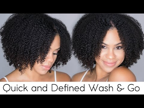Quick and Defined Wash n Go on Natural Hair