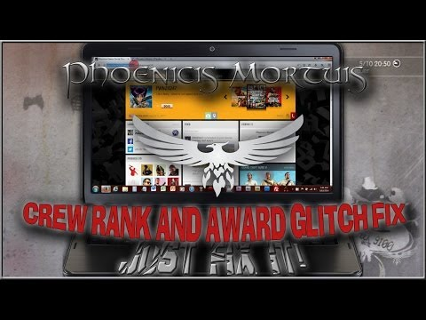 GTA V Online - Crew Rank Stuck / Awards Not Unlocking Social Club Glitch Fix (Phoenicis Mortuis)