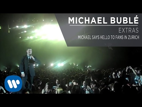 Michael Buble - Michael Says Hello To Fans In Zurich