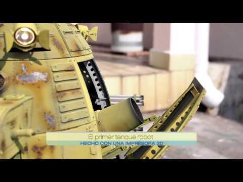 El primer tanque robot hecho con una impresora 3D