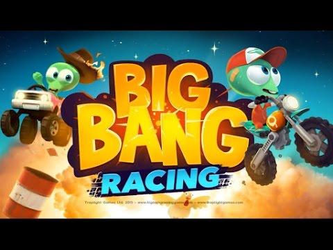 Big Bang Racing ( tentando manjar dos paranauê kkk ) - gameplay no android