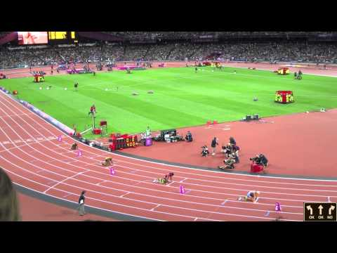 Olympics 2012 London Women's 400m Final  Sanya Richards Ross Gold Medal