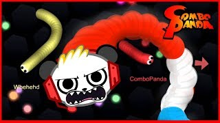 Slither.io Mega Fun Giant Snake Let's Play with Combo Panda!