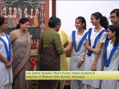 Honorable Speaker Smt. Meira Kumar at Welhan Girls School, Dehradun