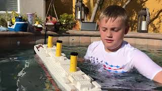 Larry Life MONSTER 5 FOOT LEGO TITANIC Splits in Half!