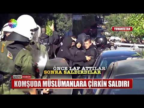 Komşuda Müslümanlara çirkin saldırı