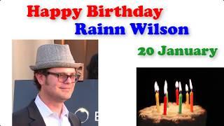 Happy Birthday Rainn Wilson 20 January