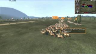 --MESSY MEDIEVAL MASSACRE-- Medieval II 4v4 Pitched Battle