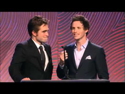 Rob Pattinson & Eddie Redmayne at the HFPA Grant Banquet
