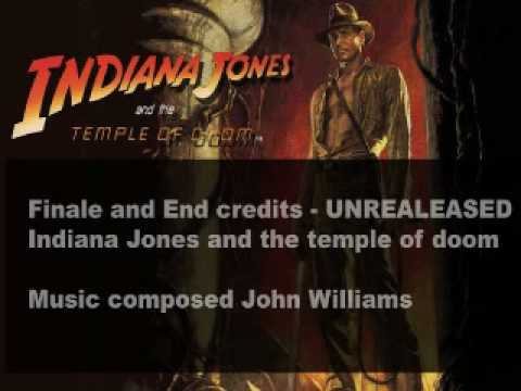 UNRELEASED EXCLUSIVE!!! End credits Indiana Jones an the temple of doom - John Williams