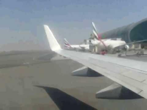 Flight 9W536 Jet Airways Landing in Dubai from Mumbai