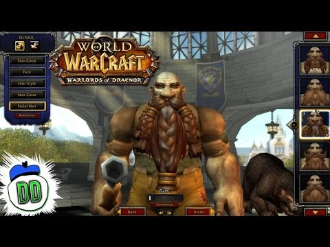 Warlords of Draenor Alpha - NEW MODEL Character Creation (Orc F/M, Dwarf F/M, Tauren M, Gnome F/M)