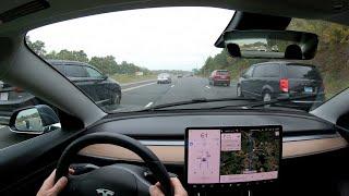 Tesla Model 3 Autopilot improvements on October 3 2019, featuring v10 software [2019.32.11.1]
