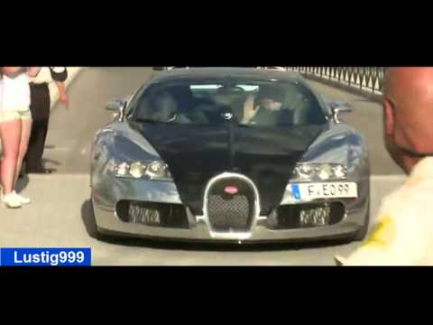 Karim Benzema(Real Madrid) drives most expensive auto Bugatti Veyron