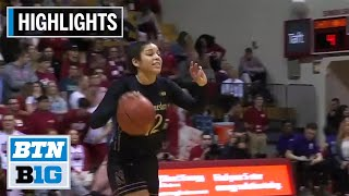 Highlights: Northwestern at Indiana | B1G Women's Basketball | Jan. 16, 2020
