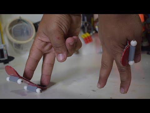Faça o seu Teck deck caseiro! Skate de dedo!