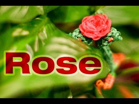 Rainbow Loom 3D Valentines Rose Charm Tutorial - Advanced