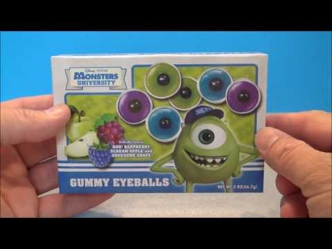 MONSTERS UNIVERSITY CANDY GUMMY EYEBALLS REVIEW BY MITCH SANTONA