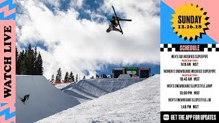 Day 4 2018 Dew Tour Breckenridge Men's SkiWomen's SNB Modified Superpipe SNB Slopestyle