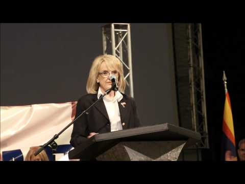 Arizona Governor Jan Brewer speaks to the Arizona Republican Party