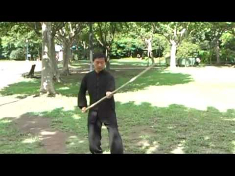 Master Zhou Zhong Fu. Tai Chi Staff. Basic technique Image 1