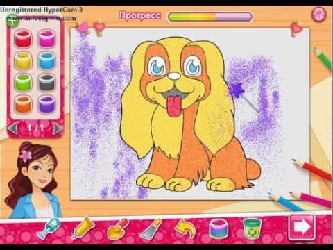 Игры для девочек рисуем на стекле