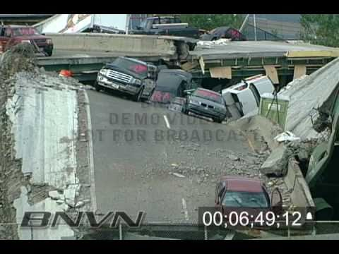 Rare Interstate 35W aftermath footage shot by the Minnesota Department of Transportation