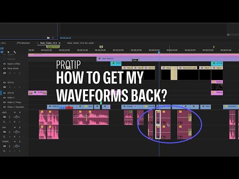 PREMIERE PRO - PRO TIP - How to get your waveform files back in premiere pro