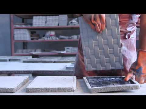 telgu wall tiles using rubber moulds