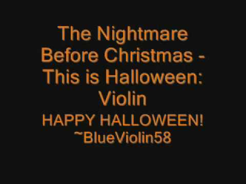 The Nightmare Before Christmas - This is Halloween: Violin