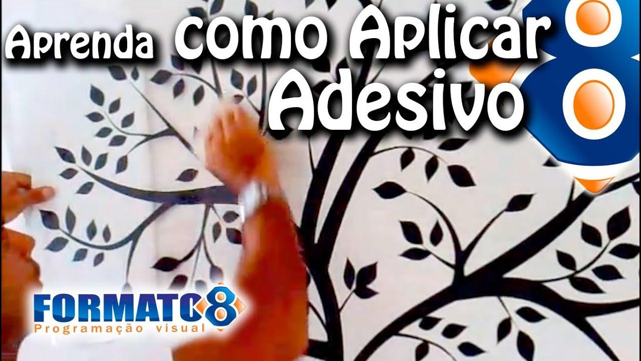 Artesanato Quadros Para Quarto De Bebe ~ Como Aplicar Adesivo De Parede de Arvore YouTube
