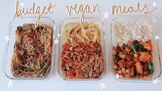 Budget Friendly Simple Vegan Meal Prep Recipes | Student Lifestyle