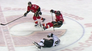 Doughty ducks out of the way of huge Tkachuk hit