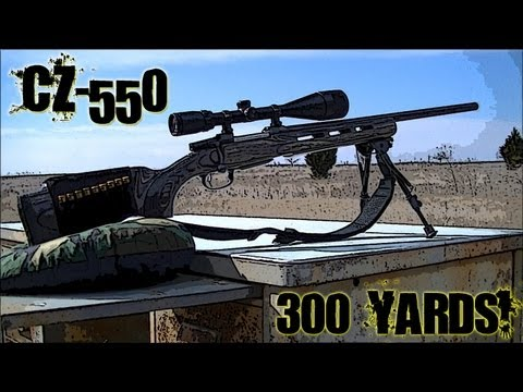 Shooting 300 Yards with CZ-550 .308 Varmint Laminated