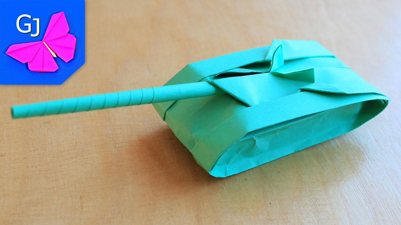 Origami Tank 2 Paper Crafts - YouTube