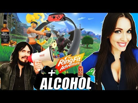 Irish Girl Tries Nintendo Switch RING FIT ADVENTURE For First Time!! - 'ALCOHOL SPECIAL'