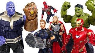 Marvel Avengers Infinity War! Hulk, Spider Man, Iron Man, Thor! Defeat the Thanos! - DuDuPopTOY
