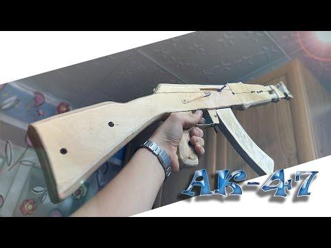 Как сделать AK-47 из дерева?