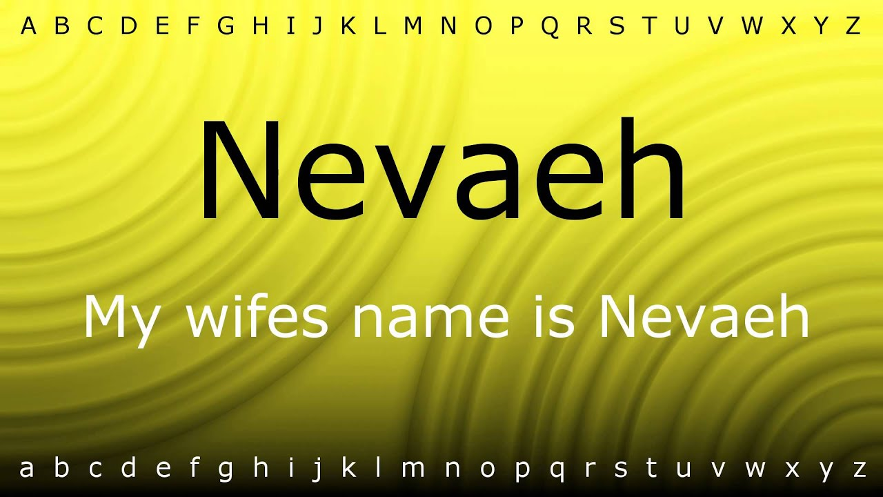 nevaeh pronounce