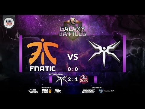 Fnatic [MY] vs Mineski [PH] (BO3) @ Galaxy Battle Major 2018 - Dota 2 live [ ID]