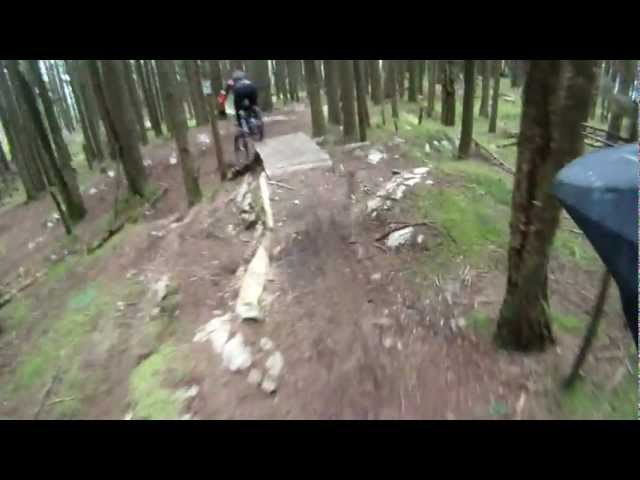 Sumas Mtn - Close call jump crash
