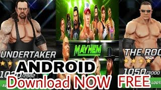 WWE ANDROID GAME! FREE DOWNLOAD AND PLAY WRESTLING GAME FOR ANDROID!