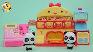 Baby Panda's Hamburger Shop | Kitchen Toys | Kids Toys Story | ToyBus