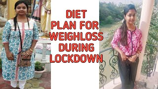Total diet plan to lose weight at Home in lockdown.